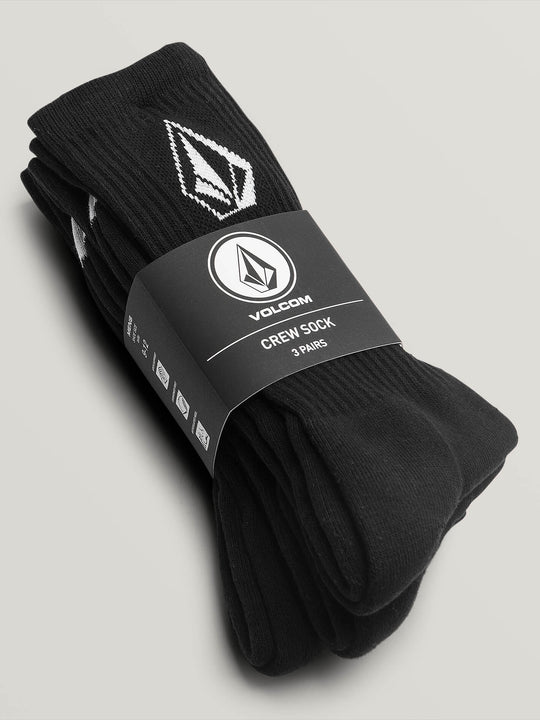 Full Stone Sock 3 Pack - Black (D6321800_BLK) [1]