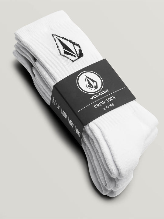 Full Stone Sock 3 Pack - White (D6321800_WHT) [3]