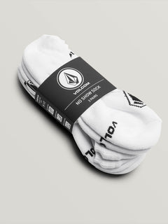 Stone No Show Sock 3 Pack - White (D6321803_WHT) [2]