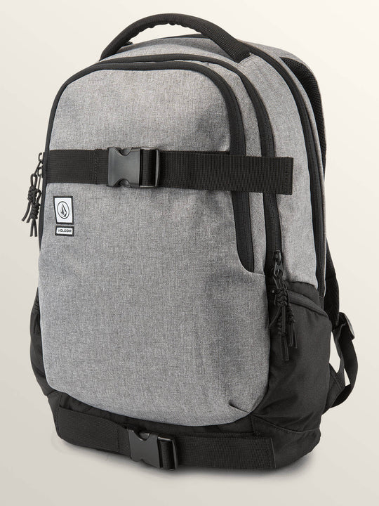 Vagabond Stone Backpack In Black Grey, Front View