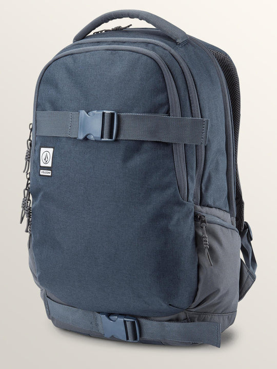 Vagabond Stone Backpack In Midnight Blue, Front View