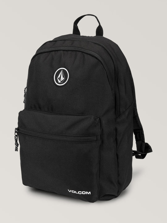 V Academy Backpack In Black, Front View
