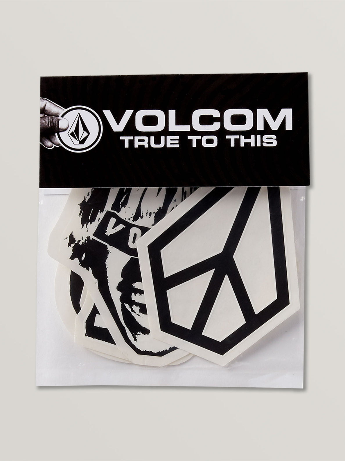 Volcom Logo Sticker Pack - White Black