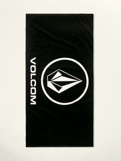 Volcom Rider Towel In Black, Front View