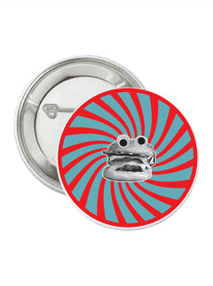 Burger X Volcom Pin In True Red, Front View