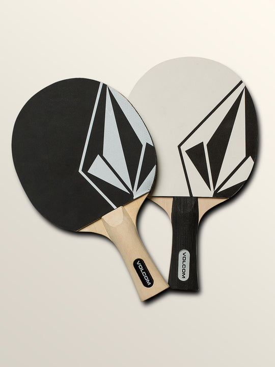 Stone Ping Pong Set In Black, Back View