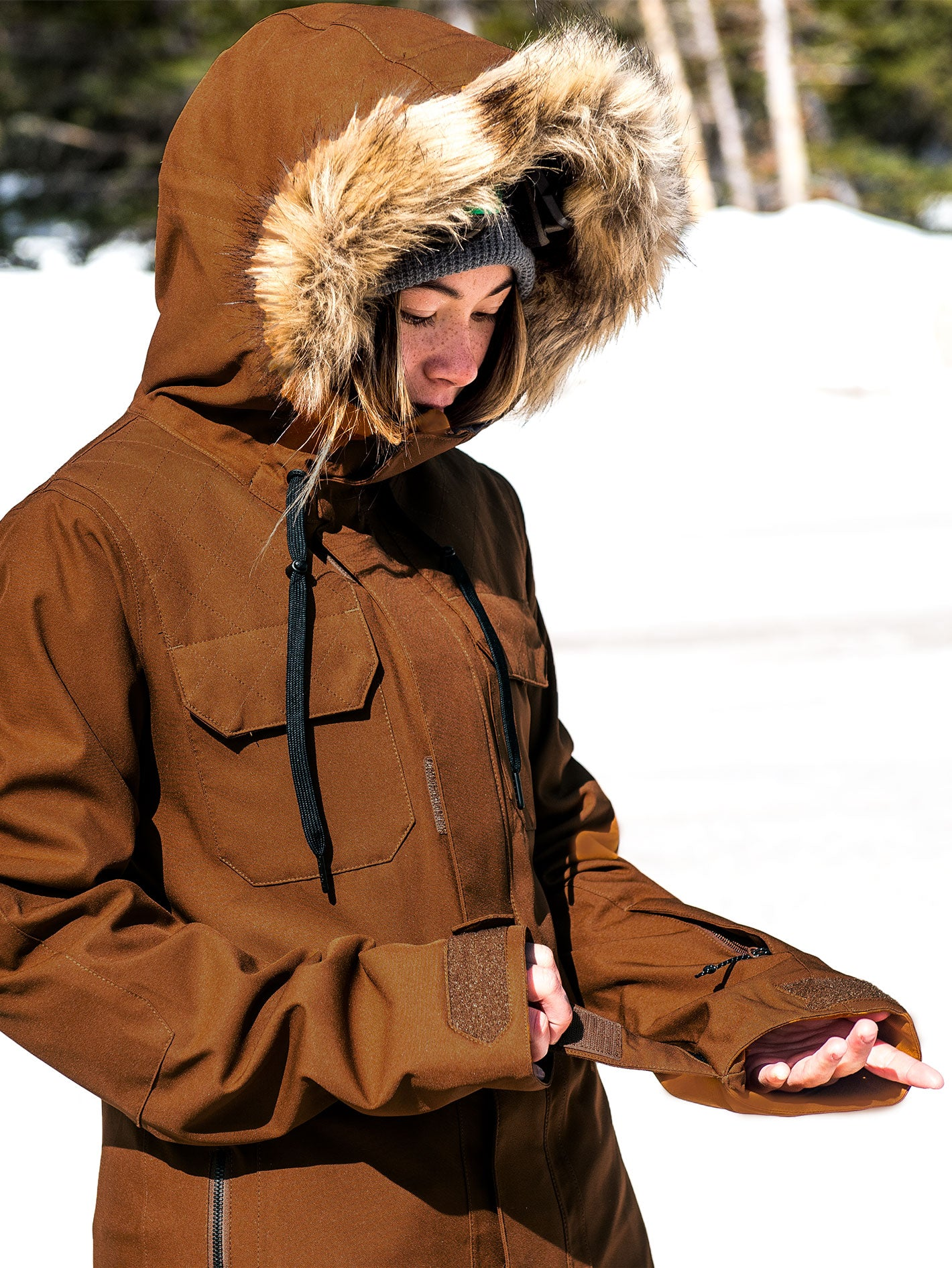 Womens Shadow Insulated Jacket Copper