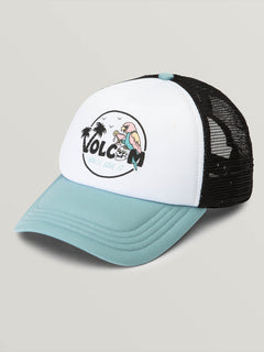 Good Timez Hat In Dusty Aqua, Front View