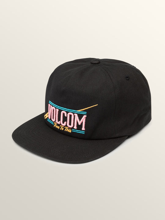 Tie Dye For Snapback Hat In Black, Front View
