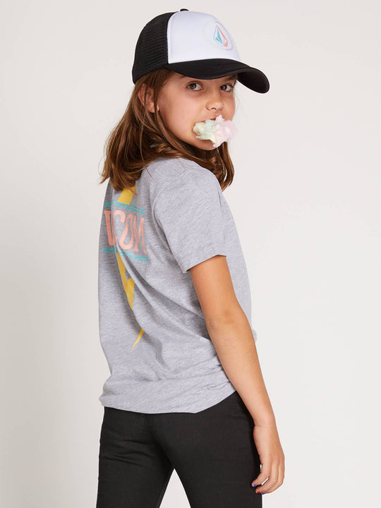 Big Girls Volcom Chatter Hat In White, Front View