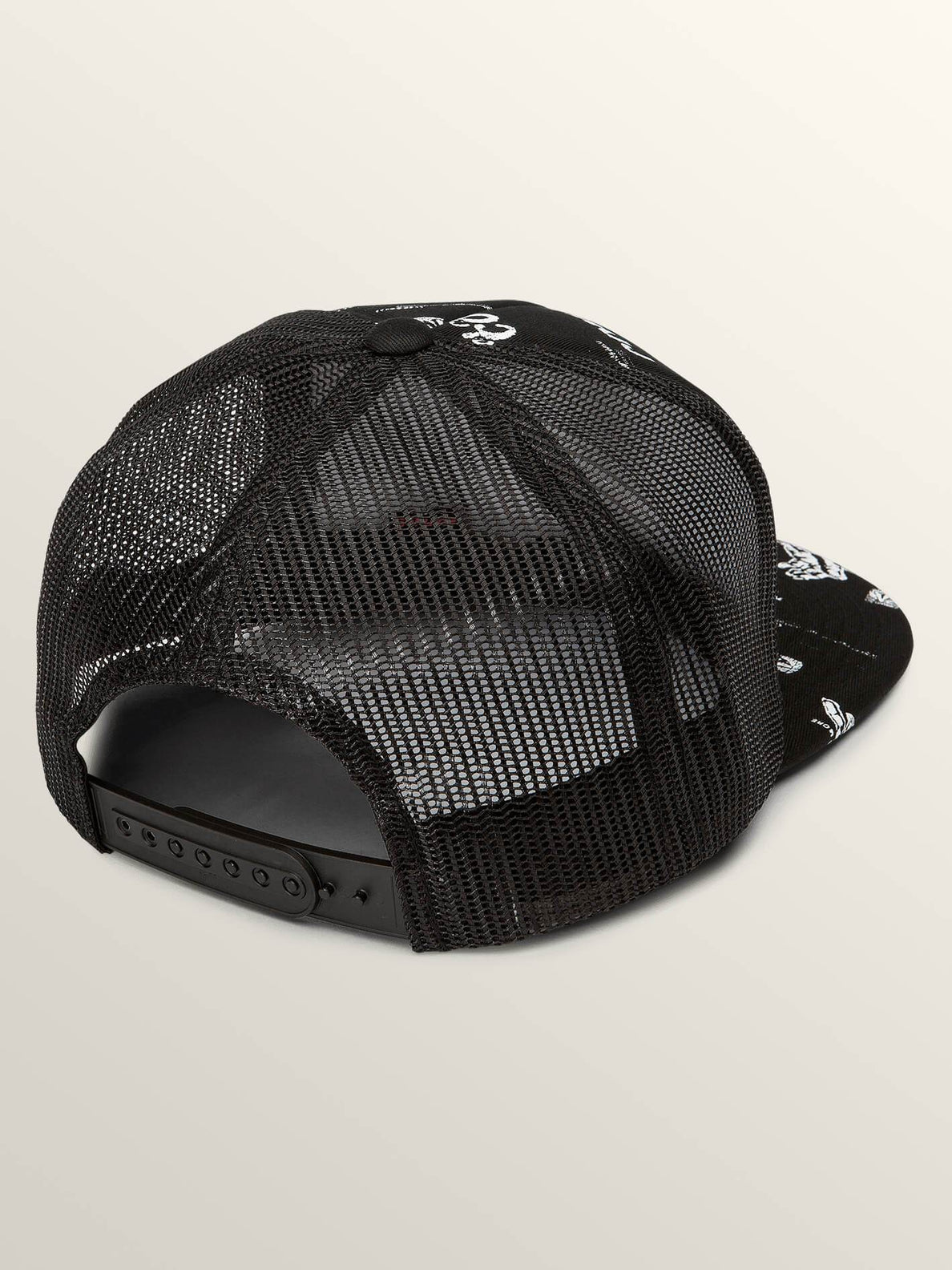 Stonar Waves Hat In Black, Back View