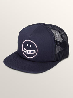 Stonar Waves Hat In Sea Navy, Front View