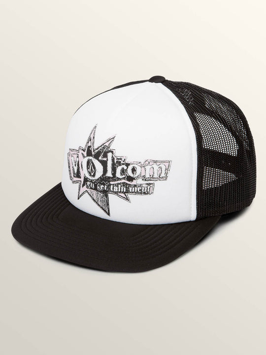 Stonar Waves Hat In White, Front View