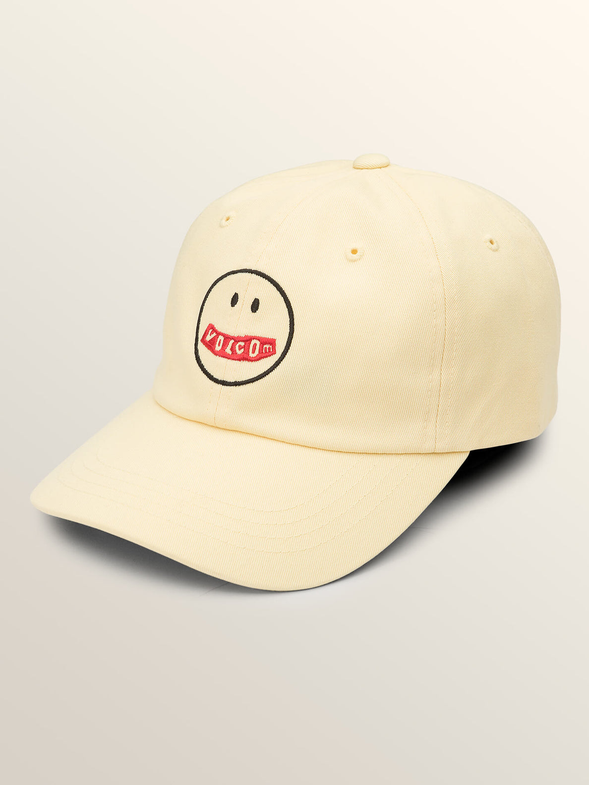 Totally Stoke Hat In Faded Yellow, Front View