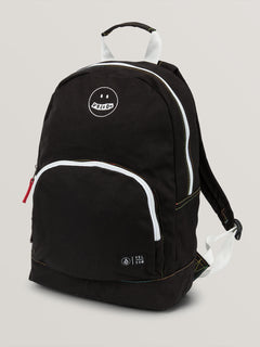 Schoolyard Canvas Backpack In Black, Front View