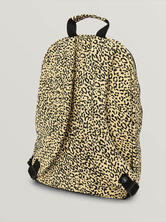 Schoolyard Cnvs Bkpk In Leopard, Back View