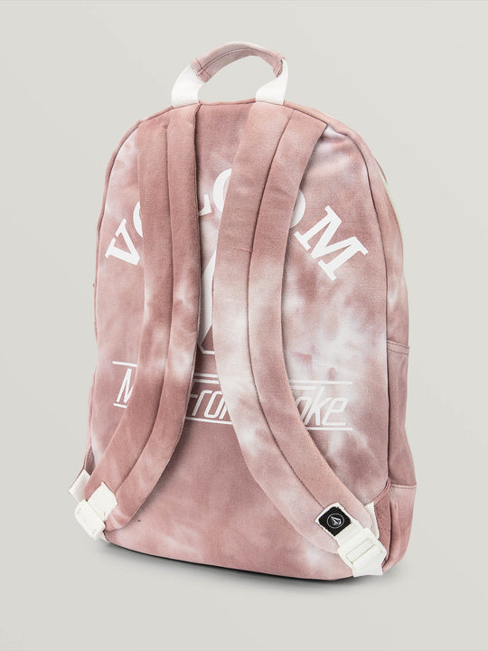 Schoolyard Canvas Backpack In Mauve, Back View