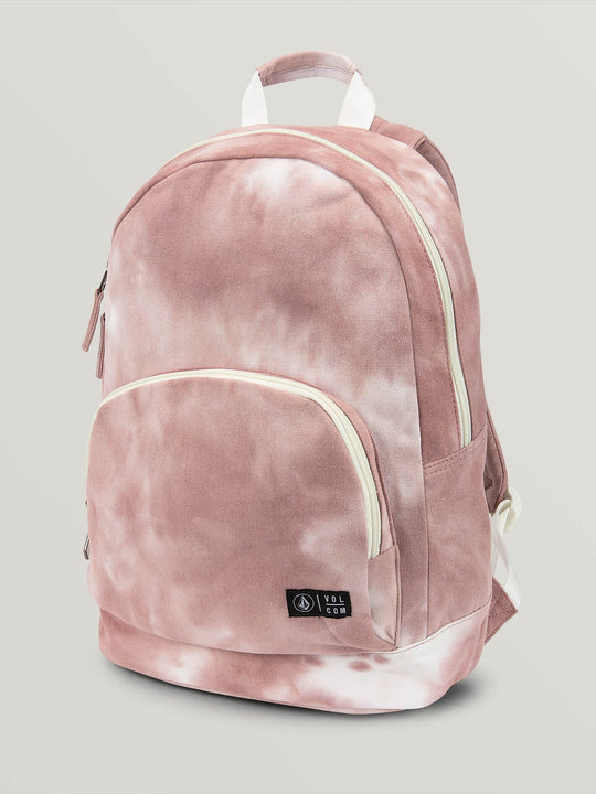 Schoolyard Canvas Backpack In Mauve, Front View