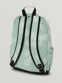 Fieldtrip Canvas Backpack In Light Blue, Back View