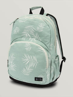 Fieldtrip Canvas Backpack In Light Blue, Front View