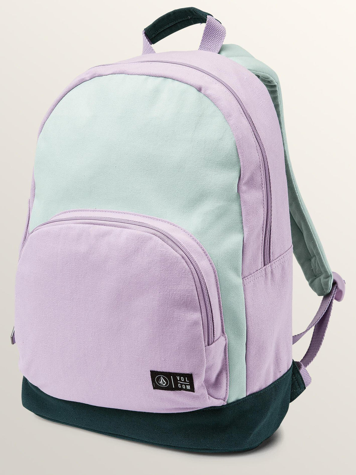 Schoolyard Canvas Backpack In Light Blue, Front View