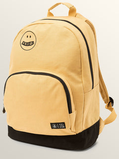 Schoolyard Canvas Backpack In Mustard, Front View
