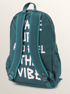 Fieldtrip Canvas Backpack In Evergreen, Back View