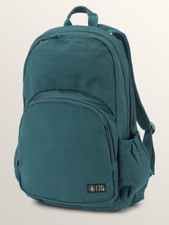 Fieldtrip Canvas Backpack In Evergreen, Front View