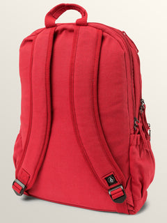 Fieldtrip Canvas Backpack In Rad Red, Back View