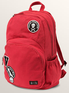 Fieldtrip Canvas Backpack In Rad Red, Front View