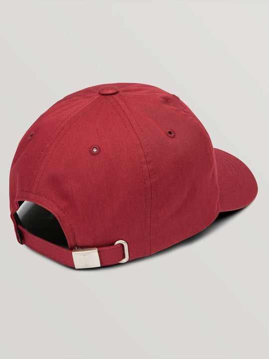 Big Boys Volscripto Hat In Burgundy, Back View