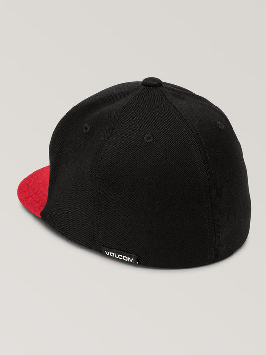 Big Boys Stone Stack Jfit Hat In True Red, Back View