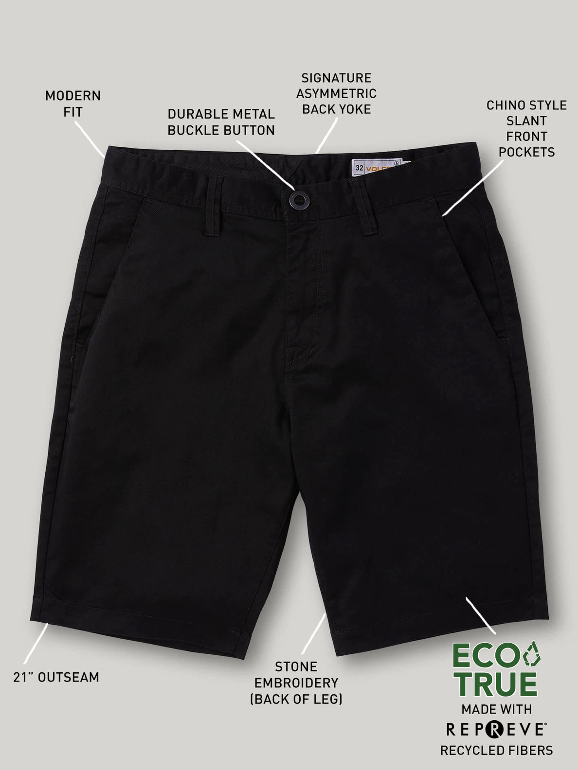 Frickin Modern Stretch Shorts - Black