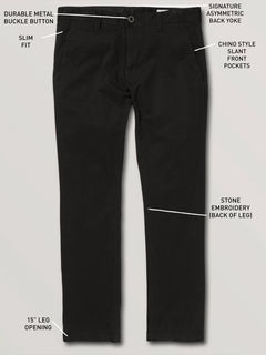 Frickin Slim Chino Pants - Black