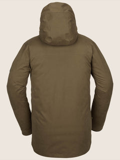 V.co 3L Rain Jacket In Moss, Back View