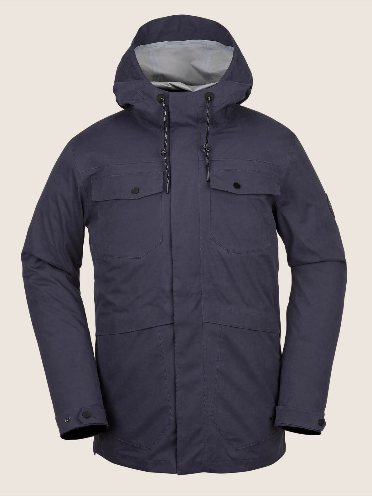 V.co 3L Rain Jacket In Vintage Navy, Front View