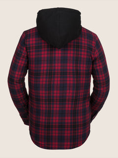 Field Insulated Flannel In Red, Back View