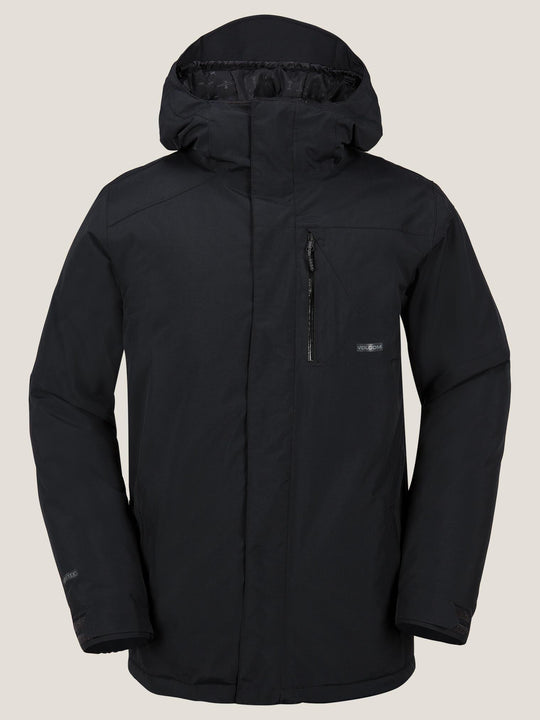 L Insulated Gore-tex® Jacket In Black, Front View