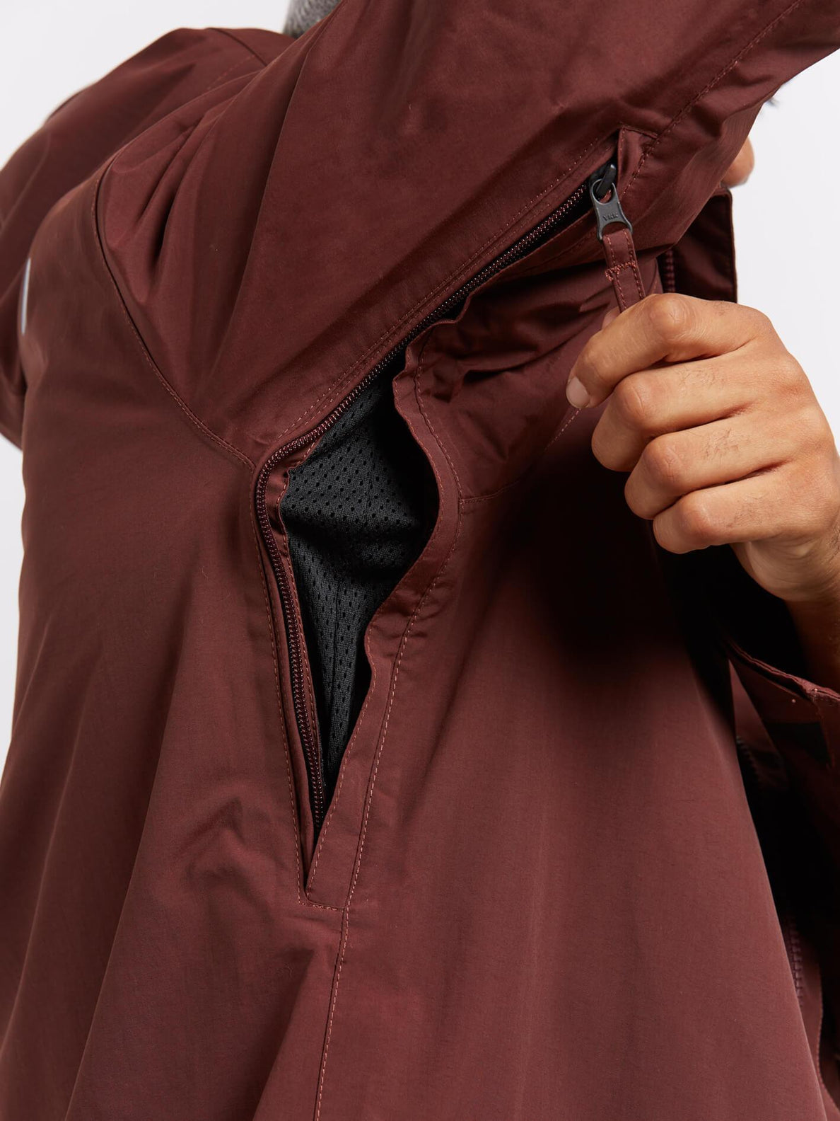 L Insulated Gore-tex® Jacket In Burnt Red, Alternate View