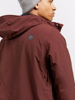 L Insulated Gore-tex® Jacket In Burnt Red, Second Alternate View