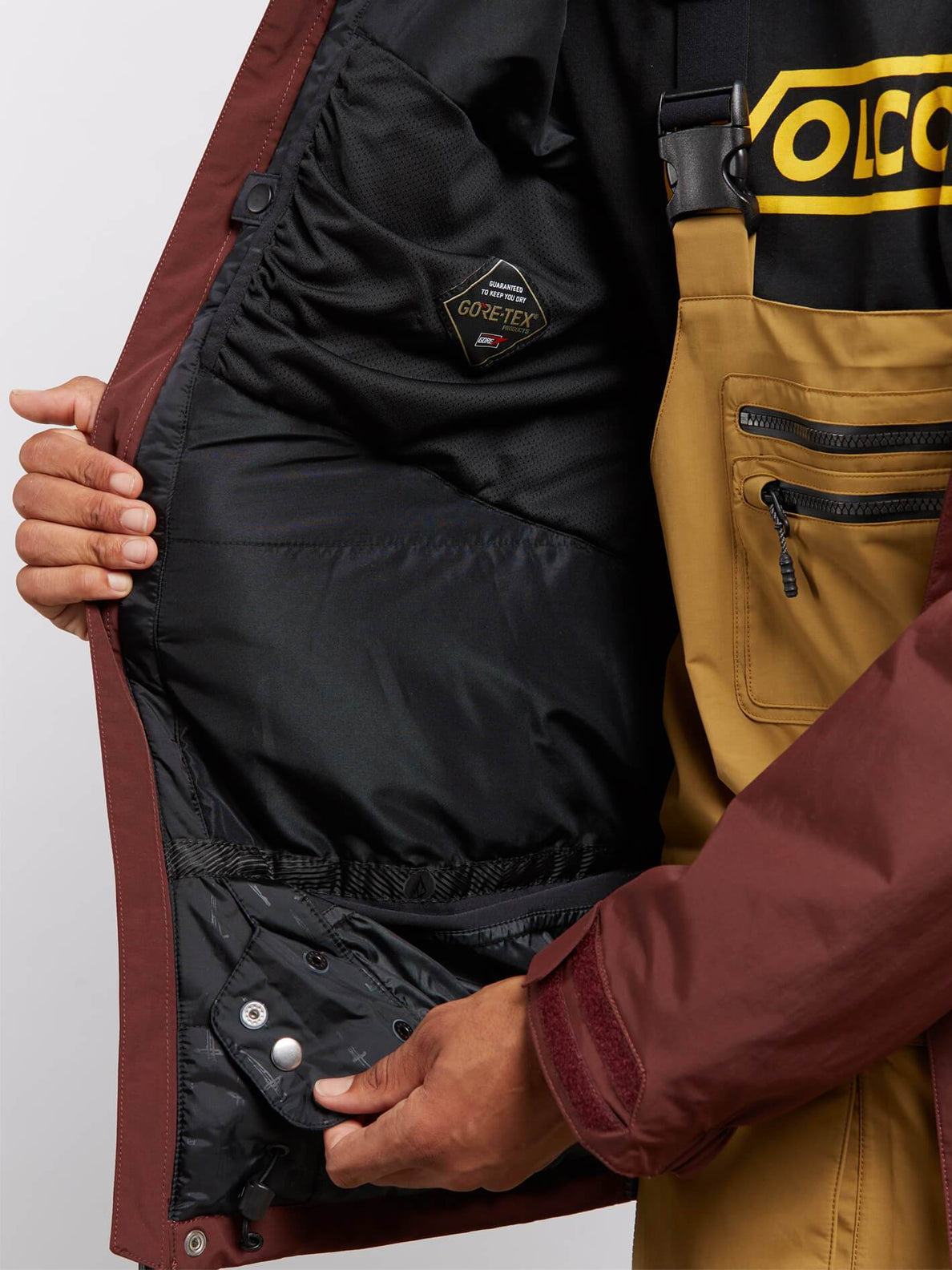 L Insulated Gore-tex® Jacket In Burnt Red, Third Alternate View