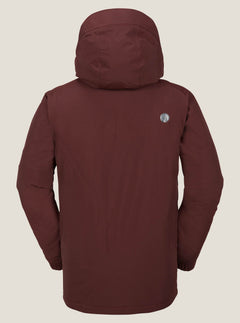 L Insulated Gore-tex® Jacket In Burnt Red, Back View