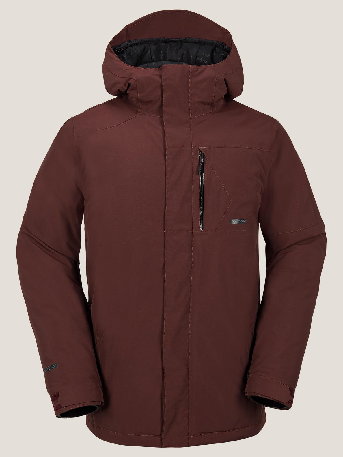 L Insulated Gore-tex® Jacket In Burnt Red, Front View