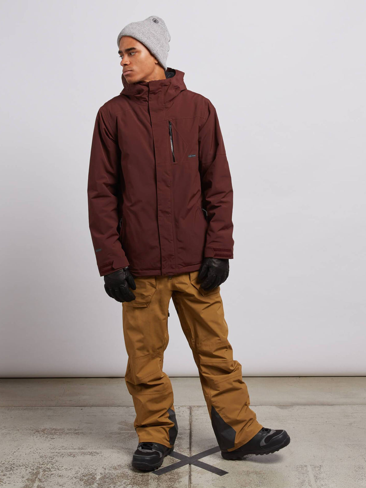 L Insulated Gore-tex® Jacket In Burnt Red, Wide View