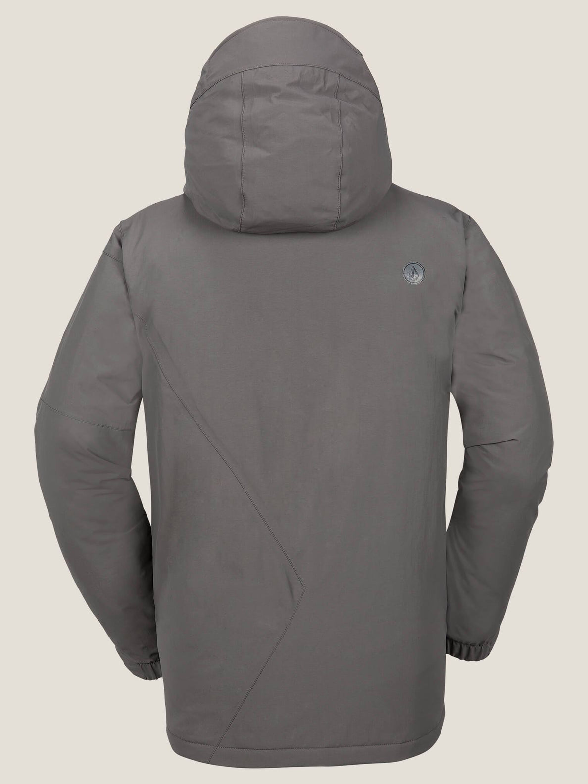 L Insulated Gore-tex® Jacket In Charcoal Grey, Back View
