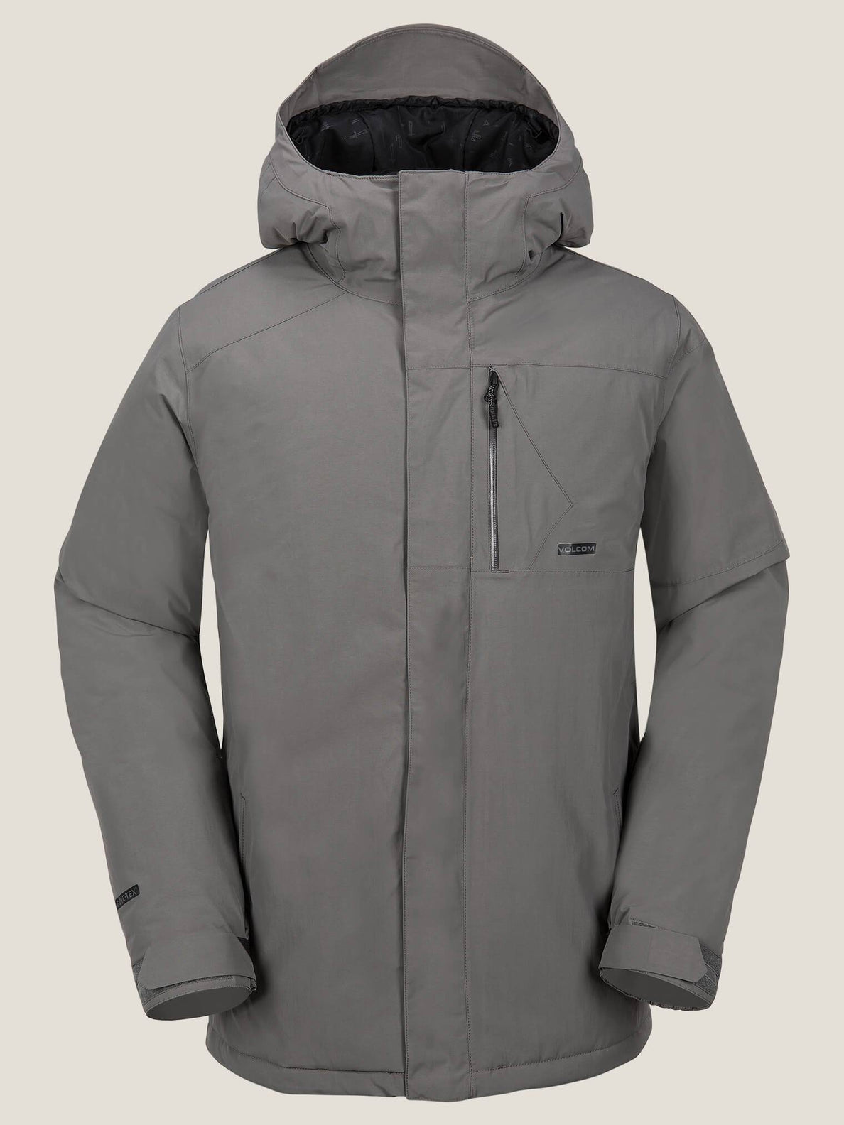 L Insulated Gore-tex® Jacket In Charcoal Grey, Front View