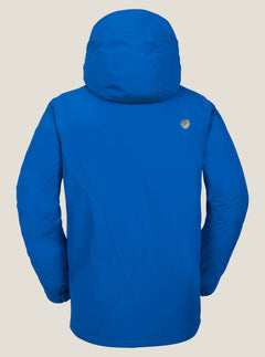 L Insulated Gore-tex® Jacket In Snow Royal, Back View