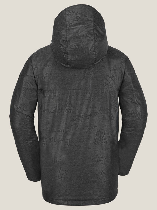Prospect Insulated Jacket In Black On Black, Back View