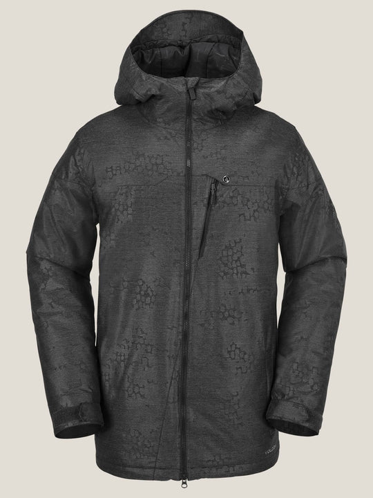 Prospect Insulated Jacket In Black On Black, Front View