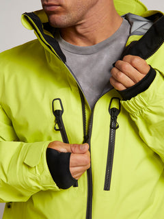 Tds® Inf Gore-tex Jacket In Lime, Third Alternate View